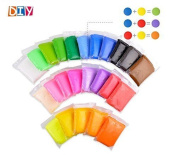 24 Pcs Beautymood Colourful Kids Ultra Light Modelling Clay Magic Air Dry Clay
