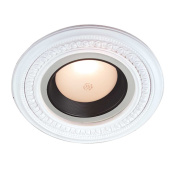 Spot Light Ring White Trim 13cm Id X 23cm Od Mini Medallion | Renovator's Supply