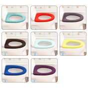 Toilet Seat Soft Warmr Cloth Washable Lid Top Cover Pad Closestool Bathroom