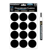 72 Round Chalkboard Mason Jar Lid Canning Labels For Food Storage, Pantry, Spice