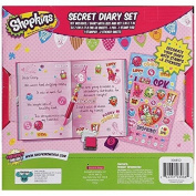 Innovative Designs Shopkins Girls Diary With Pen, Lock, Key, Stamp And Stickers