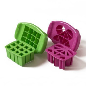 Funbites Shaped Food Cutter Set, Green/pink , New,  .