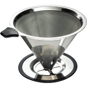 Yitelle Stainless Steel Pour Over Coffee Cone Dripper With Cup Stand And Scoo...
