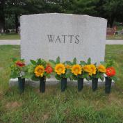 Evelots Set Of 6 Cemetery Grave Patriotic Memorial Veterans Flower Cone Vases