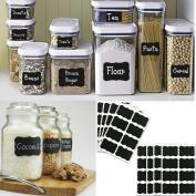 48pcs Chalkboard Blackboard Chalk Board Stickers Decals Craft Kitchen Jar Labels