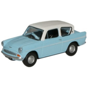 Light Blue Ford Anglia Model - Ox Diecast 1:76 Lt. Ermine White Collectable