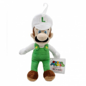 Sanei Officially Licenced Super Mario Plush 23cm Fire Luigi Japanese Import , New,