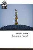Que Faire de L'Islam ?  [FRE]