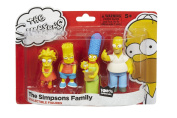 The Simpsons Family Collectable 4 Figure Pack - Homer, Marge, Bart, Lisa Simpson