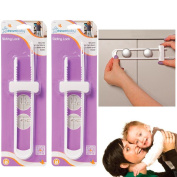 2pc Dreambaby Sliding Lock Home Safety Cabinet Cupboard Doors Child Baby Proof