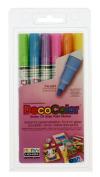 6 Piece Decocolor Fine Point Paint Marker Set Yellow Ea 200-6c