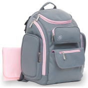 Jeep Places And Spaces Backpack Nappy Bag - Grey/pink