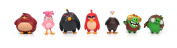 Angry Birds Movie Mini Figure Multi Pack Set A (7 Piece) New