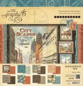 Graphic 45 Double-sided Paper Pad 30cm x 30cm 24/pkg-citysca