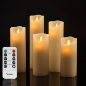 Vinkor Flameless Candles Flickering Flameless Candles Set Decorative Flam... New