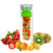 LA Organics Fruit Infuser Water Bottle 710ml BPA Free Tritan Leak Proof Sport Water Bottle - FREE Fruit Infusion Recipe Ebook Gift Included