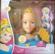 Disney Princess Cinderella Majestic Hair Styling Head Play Toy New