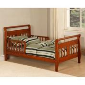 Toddler Bed Frame Bedroom Furniture Kids Children Wood Walnut Home New