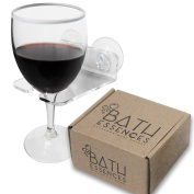 Bathtub & Shower Wine Glass Holder By Bath Essences - Pamper Yourself Now!
