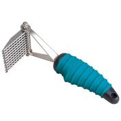 Master Grooming Tools Steel 9-Blades Dematting Ergonomic Pet Comb with Rubber Handle