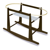 Jolly Jumper Rocking Moses Basket Stand, Expresso, New,  .