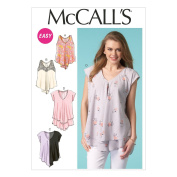 Mccall's Sewing Pattern Misses' Very Loose Fitting Pullover Tops Xsm - Xxl M7125