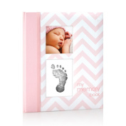 Pearhead Chevron Baby Memory Book With An Included Clean-touch Ink Pad To