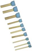 Sponge Stippler Set, (3) 0.6cm , (4) 1.9cm , (3) 1, 0.6cm , 10/pkg, New,  .