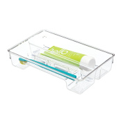 mDesign Toothbrush and Toothpaste Drawer Organiser - Clear