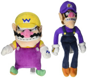 Little Buddy Mario Plush Doll Set Of 2 Wario & Waluigi