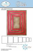 Elizabeth Craft Metal Die-stitched Rectangles, 4.5x5.75 Largest