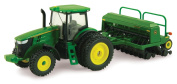 Ertl Collectibles John Deere 7215r Tractor With Grain Drill 45433