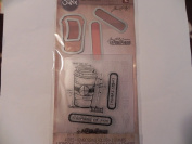 Sizzix Tim Holtz Alterations Stamp, Die & Texture Fade - Coffee Time