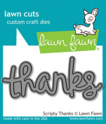 Lawn Fawn - Lawn Cuts - Scripty Thanks Dies, New,  .