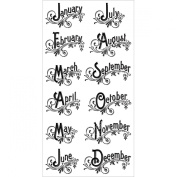 Graphic 45 Cling Stamp, Time To Flourish 3, New,  .