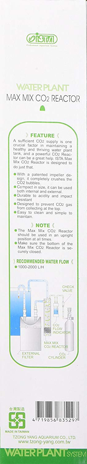 Gulfstream Tropical Agu00529 Ista Max Mix Co2 Reactor For Aquarium, Large  New