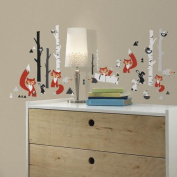 Roommates Fox Forest Peel And Stick Wall Decals, New,  .