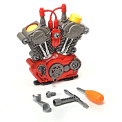 Build-your-own Engine Play Set And Power Drill Kit By Brunfen Toys Free Ship