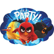 Amscan Birthday Party Boy Angry Birds The Movie Postcard Invitations 491598