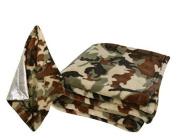 Stephan Baby Super-soft Fleece Crib Blanket And Security Blankie Set, Camo Print