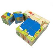 Rolimate Rolimate Educational Preschool Wooden Cube Block Jigsaw Puzzles -