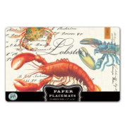 Michel Design Works Placemats, Lobster, 25-sheet, New,  .