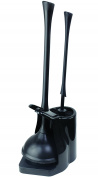 Casabella Bowl Brush And Plunger Combo, Black