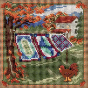 Country Quilts Cross Stitch Kit Mill Hill Buttons & Beads Autumn