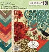 K & company Engraved Garden 30cm by 30cm Designer Paper Pad, New,  .