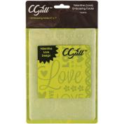Cgull 12-0016 Valentine Love Embossing Folder