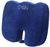 Cylen Home - Memory Foam Bamboo Charcoal Infused Ventilated Orthopaedic Seat C...