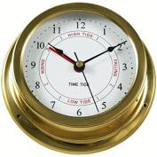 Ambient Weather Tideclock-22 14cm Brass Nautical Quartz Tide And Time Clock