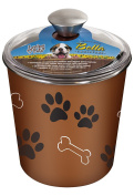 Loving Pets Bella Dog Bowl Canister/treat Container Copper New