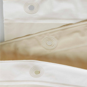 InterDesign PEVA 3 Gauge Shower Curtain Liner - Mould/Mildew Resistant, PVC Free – Sand, 180cm x 210cm